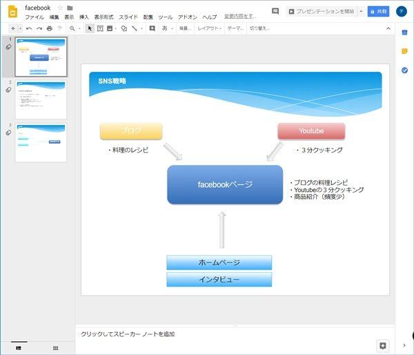 googleドライブ パワーポイントを編集する googleスライド snsのワザ