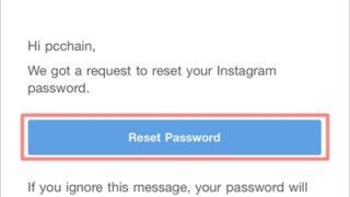 パスワード ない メール インスタ リセット 見れ